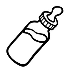 baby bottle milk icon vector image vector image
