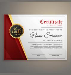 Beautiful certificate template design with best vector