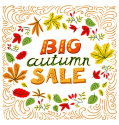 Big autumn sale lettering vector image vector image