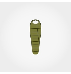 Camping sleeping bag vector