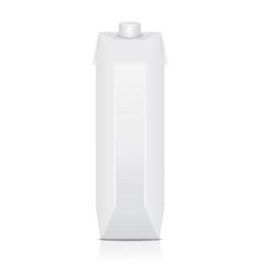Carton pack mock up for juice milk vector