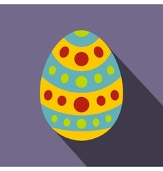 Easter egg icon flat style vector image vector image