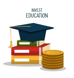 Education business investment vector