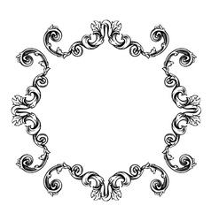 Floral label frame 7 vector image