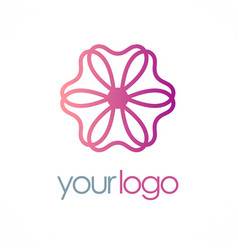Flower logo vector