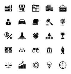 Franchise icons on white background vector