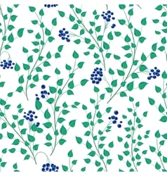 Little green leaves seamless pattern vector image