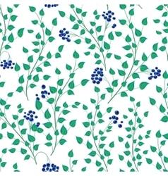 Little green leaves seamless pattern vector
