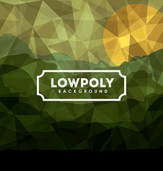 Lowpoly design vector image