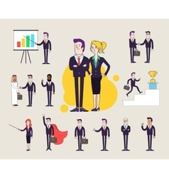 Modern office characters set Different poses and vector image vector image