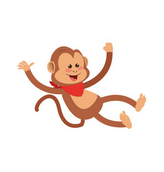 Monkey cartoon icon vector