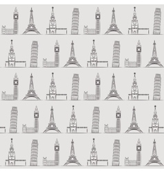 Seamless background or wallpaper with vacation vector image