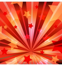 stars and radiating rays vector image vector image