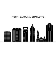 usa north carolina charlotte architecture vector image