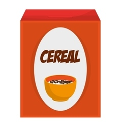 Cereal box icon vector