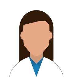 Female doctor or medic icon vector