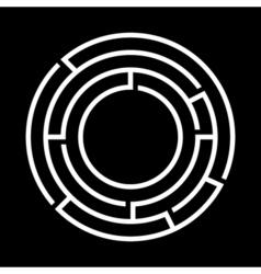 White round maze vector image