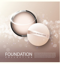 Foundation female cosmetic product ads poster vector