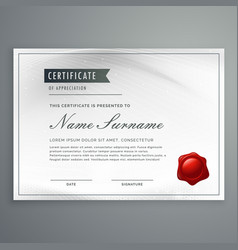 Certificate of appreciation template design in vector