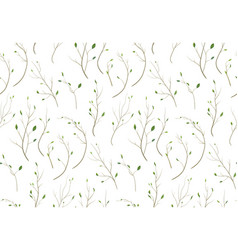 Pattern seamless of tree branch different foliage vector