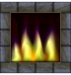 Fire in the fireplace vector
