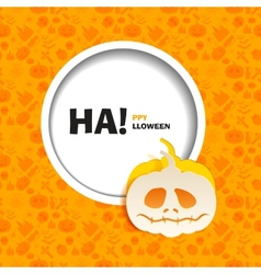 Orange seamless patterns for a happy halloween vector