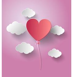 balloon heart vector image
