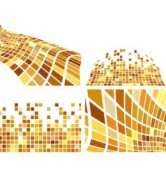 vector golden abstract backgrounds set vector image