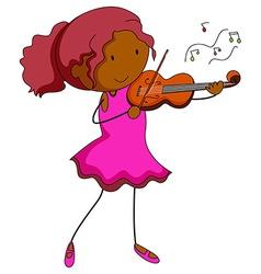 Violin player vector image