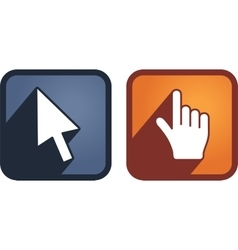 Set of hand and arrow cursors vector