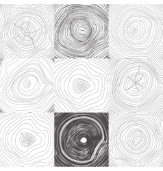 Collection of backgrounds tree rings vector