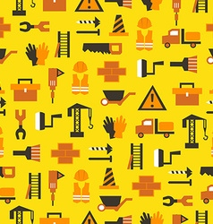 Seamless pattern with building equipment vector