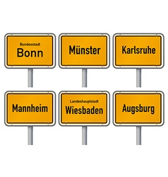 German city signs vector