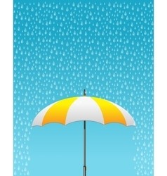 Striped opened umbrella vector