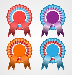 Rosette ribbon set vector