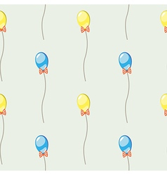 Pattern background with colorful ballons and bows vector