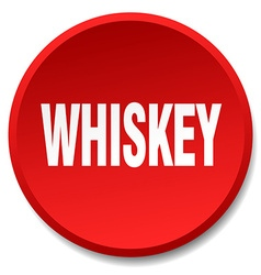 Whiskey red round flat isolated push button vector