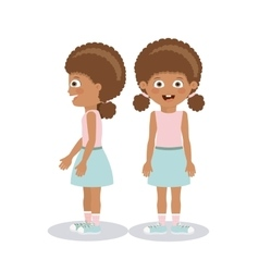 Girl character design vector