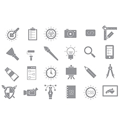 Graphic design gray icons set vector