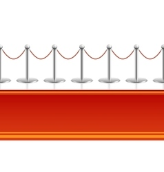 Red carpet with barrier rope seamless background vector image