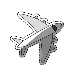 Airplane travel transport vector image