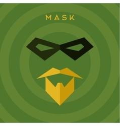 Black mask beard mustache superhero green vector