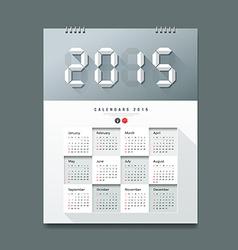 Calendar 2015 Number paper digital design vector image