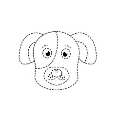 cartoon dog head pet animal icon vector image vector image