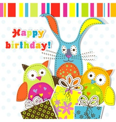 Children birthday card vector