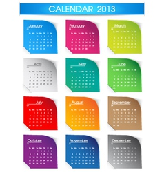 Colorful 2013 calendar vector image