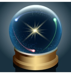 Crystal ball with universe inside vector