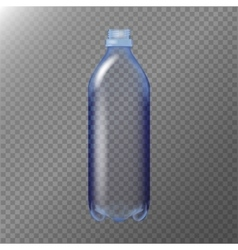 Empty Transparent Bottle Realistic Blank Mock Up vector image