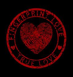 Fingerprint love-true love vector