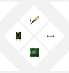 Flat device set of unit resistor repair and vector